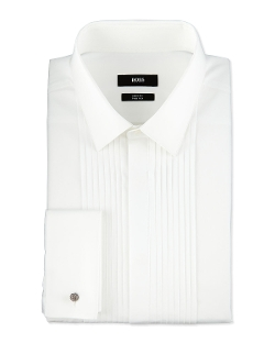 Boss Hugo Boss	 - Slim Fit Two Ply Pleated Tuxedo Shirt