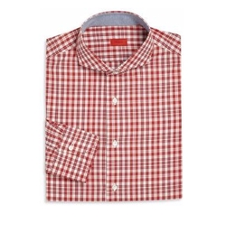 Isaia - Plaid Long-Sleeve Shirt
