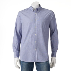 Sonoma Life + Style - Solid Poplin Button-Down Shirt