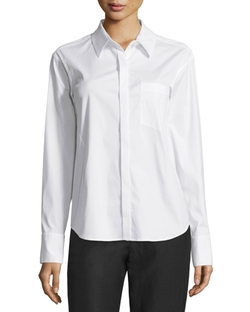 Donna Karan - Button-Front Tailored Shirt