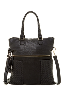 Urban Expressions - Ava Woven Convertible Messenger Bag