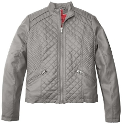 Collection B - Quilted Front Faux Leather Jacket