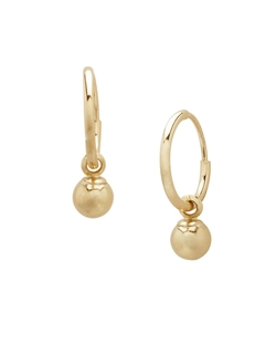 Lord & Taylor - Yellow Gold Ball Hoop Earrings