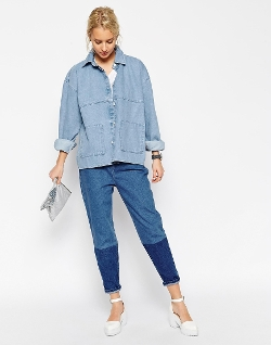 Asos White - Bleach Denim Jacket