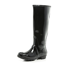 River Island - Black Tall Wellington Boot