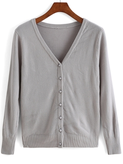 Romwe - Button Cardigan