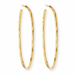 Nest Jewelry - Thin Hammered Hoop Earrings