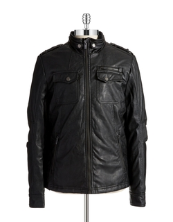 William Rast - Faux Leather Moto Jacket