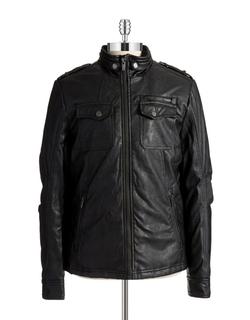 William Rast - Faux Leather Moto Jacket