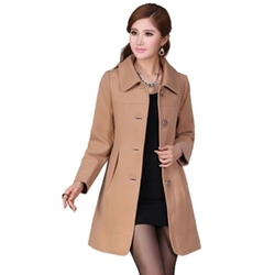 Babyhclub - Lapel Wool Trench Coat