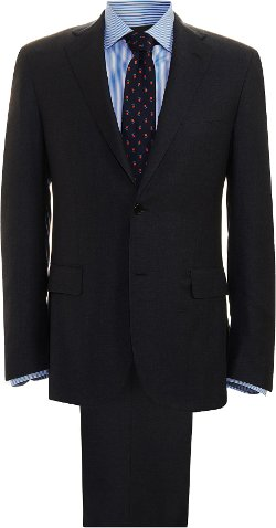 Barneys New York  - Solid Wool Two Piece Suit