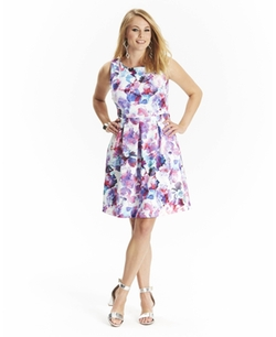 Simply Be - Floral Sleeveless Floral Dress