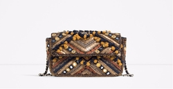 Zara - Embroidered Crossbody Bag