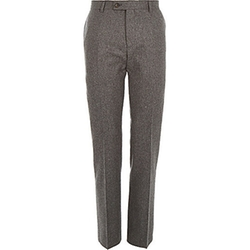 River Island - Wool-Blend Slim Suit Pants