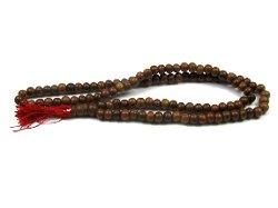 Creative Ventures Jewelry - Sheesham Wood Mala Prayer Bead Necklace