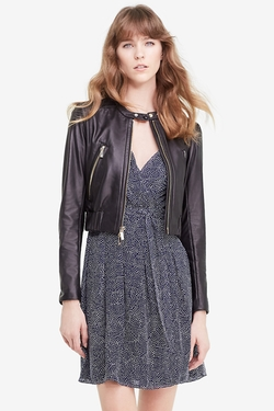 DVF - Buckley Leather Bomber Jacket
