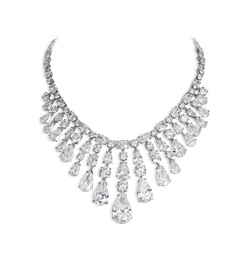 David Morris - Oval & Round Brilliant-Cut Diamond Necklace