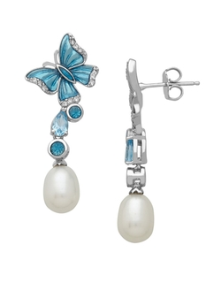 Lord & Taylor - Topaz Freshwater Pearl Drop Earrings