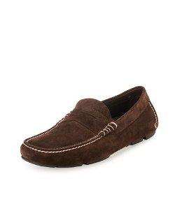 Salvatore Ferragamo - Stitched Suede Penny Driver Shoe