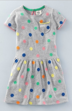 Mini Boden - Multi Spotty Knit Dress