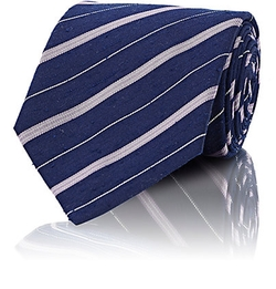 Isaia  - Striped Slub Necktie
