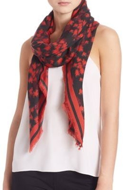Givenchy - Floral Virgin Wool & Silk Scarf