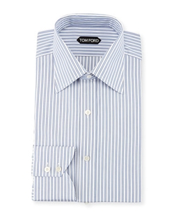 Tom Ford - Striped Barrel Cuff Dress Shirt