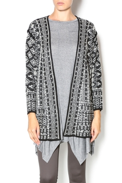 Curio - Abstract Geometric Cardigan