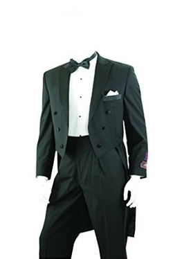 House of St. Benets  - Tailcoat Tuxedo in Black, Includes Tailcoat & Tuxedo Pants