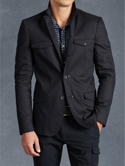 John Varvatos - Cotton Utility Jacket