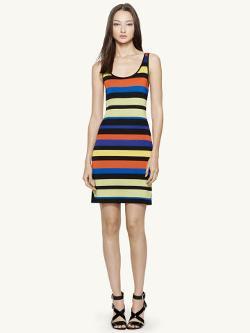 Black Label   - Striped Tank Dress