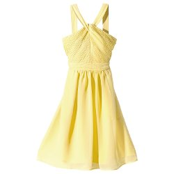 Tevolio - Halter Neck Chiffon Dress