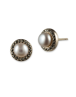 Judith Jack - Freshwater Pearl And Goldtone Stud Earrings