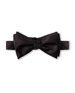 Pierre Cardin - Silk Black Bow Tie