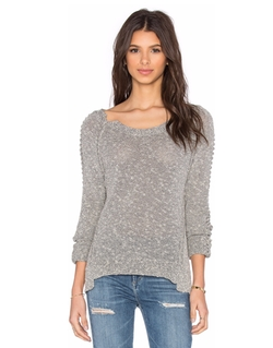 SOH  - Braided Long Sleeve Crew Neck Sweater