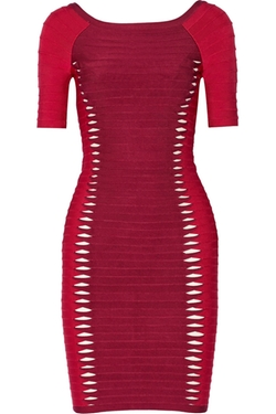 Hervé Léger  - Cutout Bandage Dress