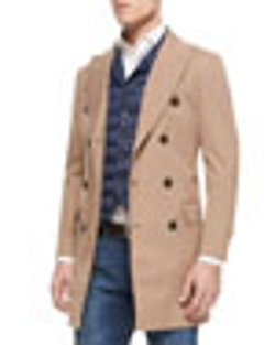 Brunello Cucinelli  - Nylon Double-Breasted Trench Coat