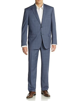 Ike Behar  - Windowpane Wool Suit