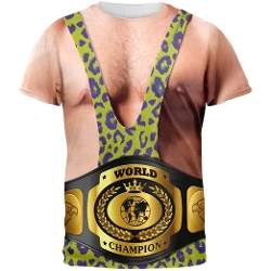 Old Glory  - Wrestler With Championship Belt All Over Adult T-Shirt