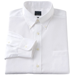 Chaps - Classic-Fit Solid Non-Iron Button-Down Collar Dress Shirt