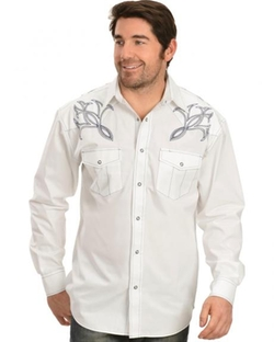 Red Ranch - Embroidered Yoke Western Shirt