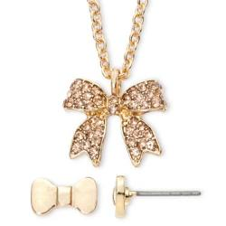 Decree - Gold-Tone Bow Necklace & Earring Set