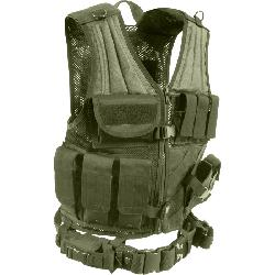 galaxyarmynavy - Olive Drab - MOLLE Compatible Cross Draw Tactical Vest