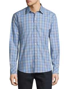 Zachary Prell  - Plaid Long-Sleeve Woven Sport Shirt
