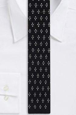 Boss Hugo Boss - Skinny Cotton Knit Print Tie
