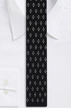 Boss Hugo Boss - Skinny Cotton Knit Print Tie
