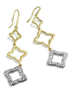 David Yurman - Quatrefoil Triple-Drop Earrings