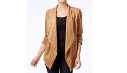 JM Collection  - Faux-Suede Draped Jacket