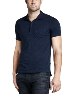7 For All Mankind  - Slub Polo Shirt