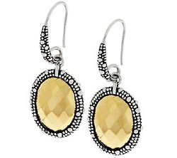Michael Dawkins  - Sterling & Clad Faceted Dangle Earrings